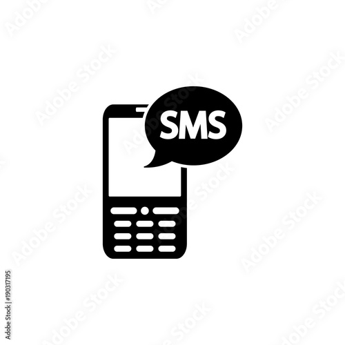 message in the classic phone icon  Elements of news and