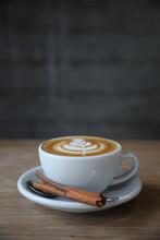 Cappuccino Or Latte Art Coffee...