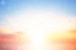 canvas print picture Blurry colorful sunset sky background