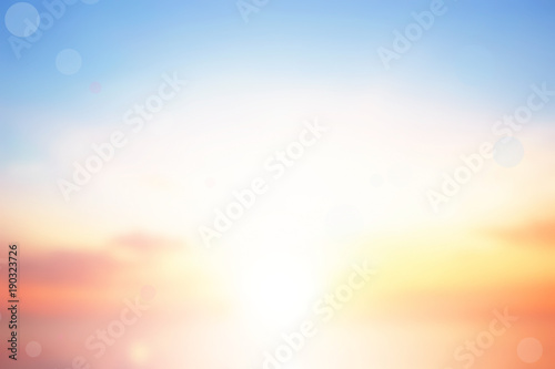Blurry colorful sunset sky background