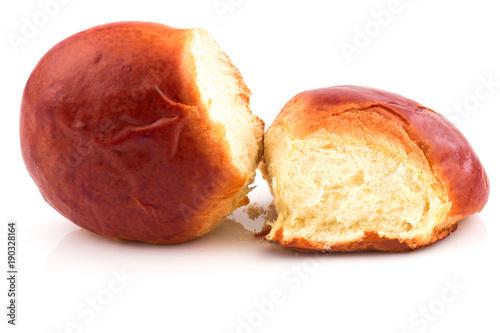 Fotografia, Obraz Fresh baked tasty sweet brioches, buns, loaves, bread