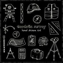 Hand Drawn Doodle Geodetic Sur...
