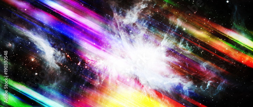 Tuinposter Nasa Colorful motion with star on abstract background. Elements of this image furnished by NASA.