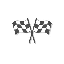 Crossed Checkered Flags. Finis...