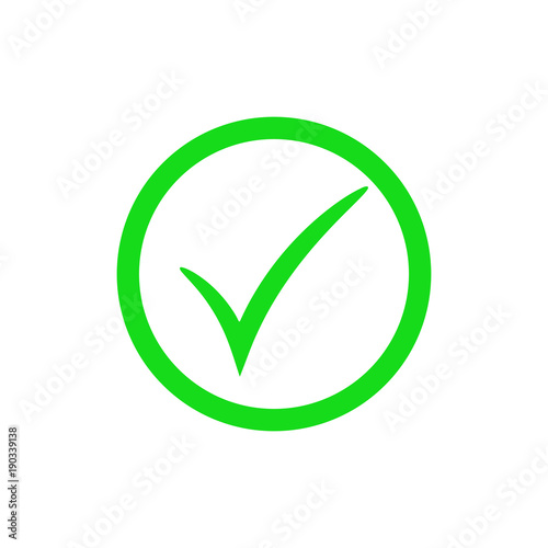 Green Check Mark Icon Vector Checkmark Button Tick Symbol Buy