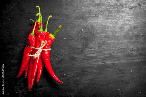 Fresh hot chili peppers.