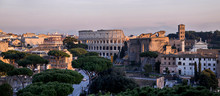 Panoramic View Of The Roman Colosseum