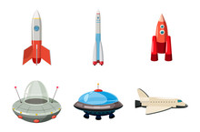 Spaceship Icon Set, Cartoon St...