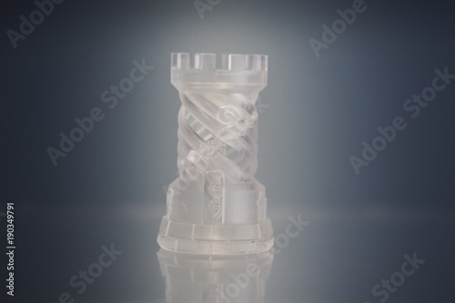 One object photopolymer printed on 3d printer