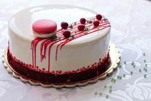 Tasty White Homemade Cake Deco...