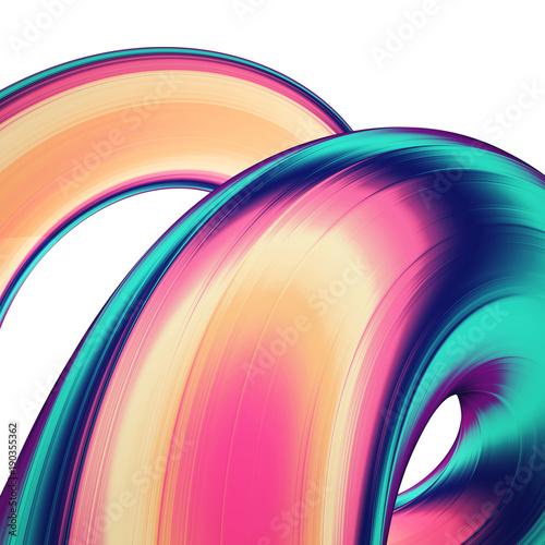3d-odplacaja-sie-abstrakcjonistycznego-tlo-kolorowe-skrecone-ksztalty-w-ruchu-wygenerowane-komputerowo-cyfrowych-dziel-sztuki-na-plakat-ulotki-transparent-tlo-lub-element-projektu-holograficzny-folia-faborek-na-bialym-tle