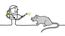 Cartoon Exterminator Man With ...