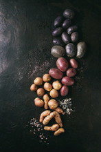 Variety Of Raw Uncooked Organi...
