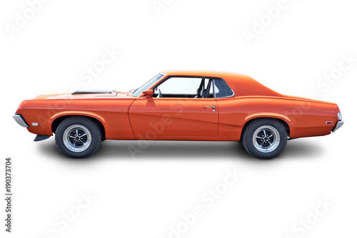 Recess Fitting Vintage cars Orange Muscle Car Profile
