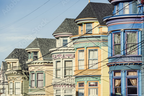 USA, California, San Francisco, row of houses