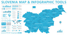 Slovenia Map - Info Graphic Vector Illustration