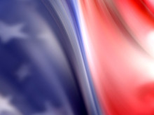 Abstract Image Of American Fla...