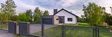 House With Fence And Garage