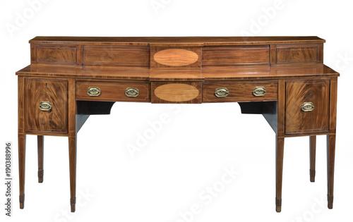 Fotografia, Obraz  Sideboard  mahogany dining serving table antique  isolated
