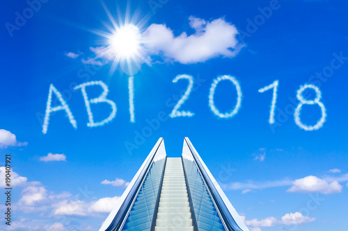 escalator sky abi abitur 2018 german Wallpaper Mural
