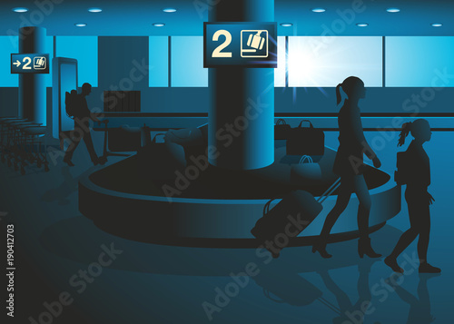 Photo aéroport - voyage - vacances - bagage - avion - tourisme - touriste - compagnie