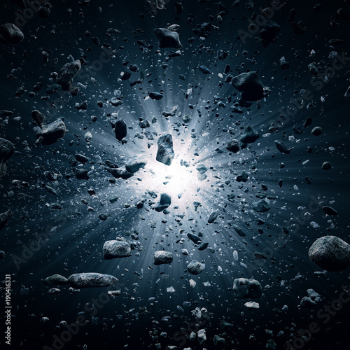 Valokuva  Big Bang explosion in space