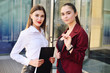 two young pretty business women