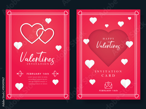 Valentines Day Or Wedding Invitation Beautiful Greeting Or