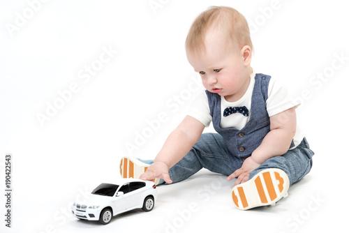 baby boy with car #190422543