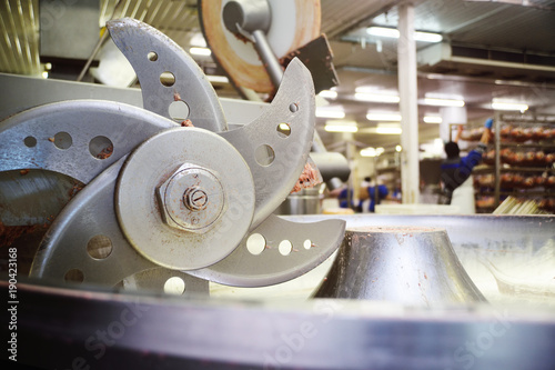 Fotografie, Obraz  cutter or Mincer for meat processing in the food industry for meat plant