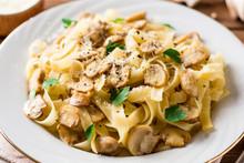Tagliatelle Pasta With Mushroo...