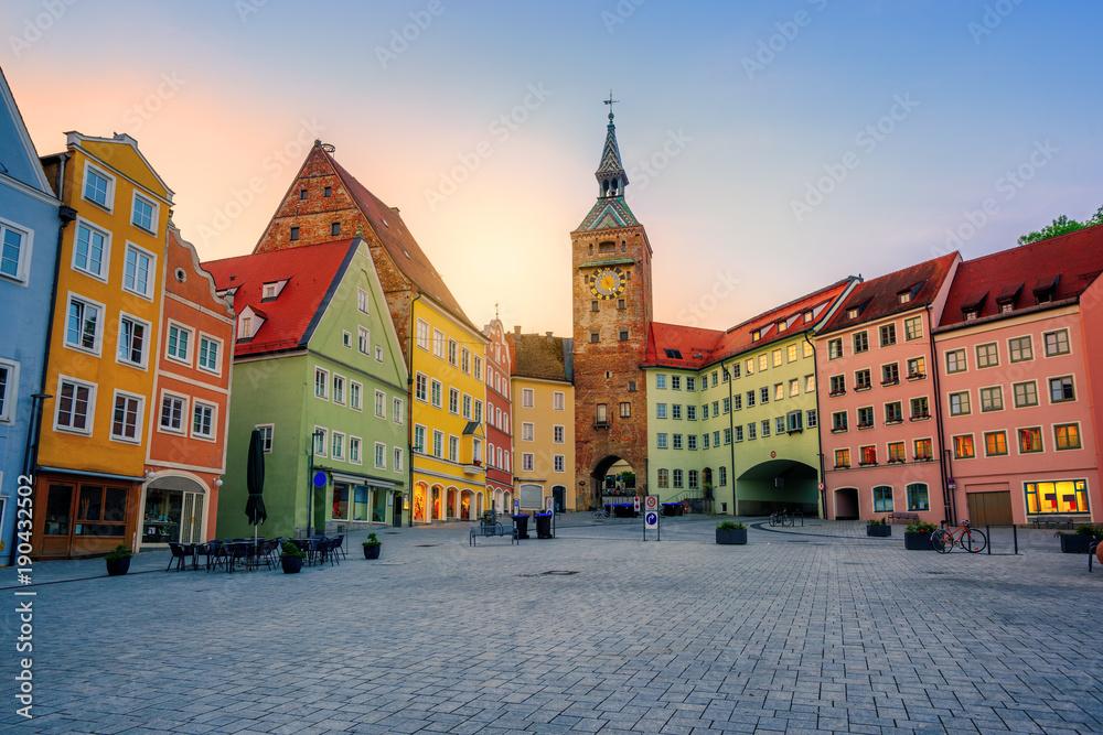 Fototapety, obrazy: Landsberg am Lech historical Old Town, Bavaria, Germany