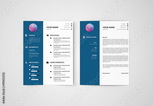 resume set with a dark blue sidebar 1  buy this stock template and explore similar templates at