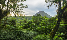 Volcan Arenal Rises Out Of The...
