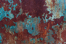 Rusty Metal Texture With Blue ...