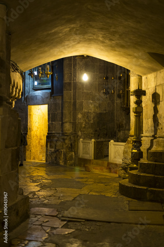 Fotomural Elements of interior decoration Temple of the Holy Sepulcher in Jerusalem