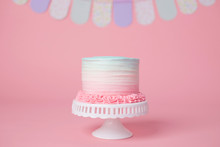 Girly Pink And Blue Birthday C...