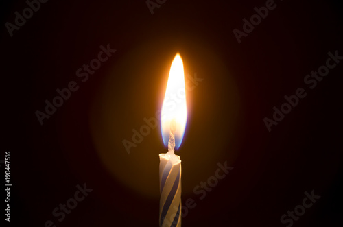 Fotografie, Obraz  Simple Single Lite Birthday Candle - Time to celebrate!