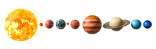 Planets Of The Solar System, 3D Rendering