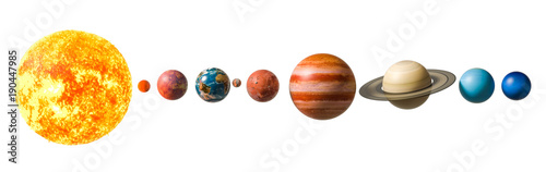 Photographie Planets of the solar system, 3D rendering
