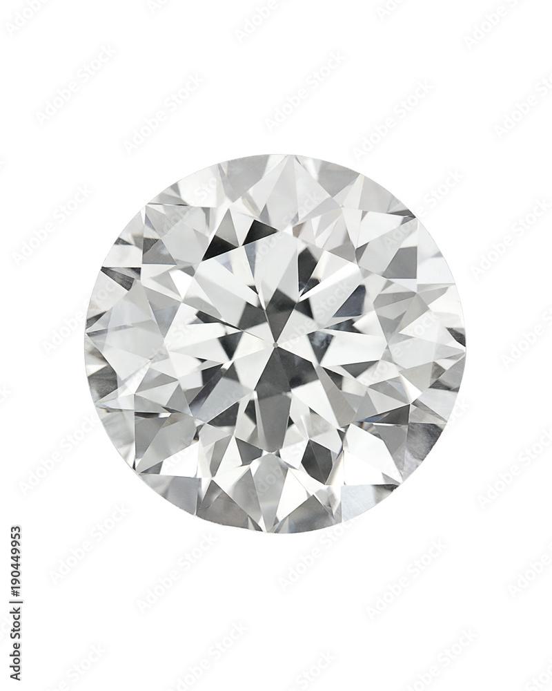 9e8da7dc7a6dc4 Diamond : top view of loose brilliant round diamonds on white background  sharp high quality #190449953