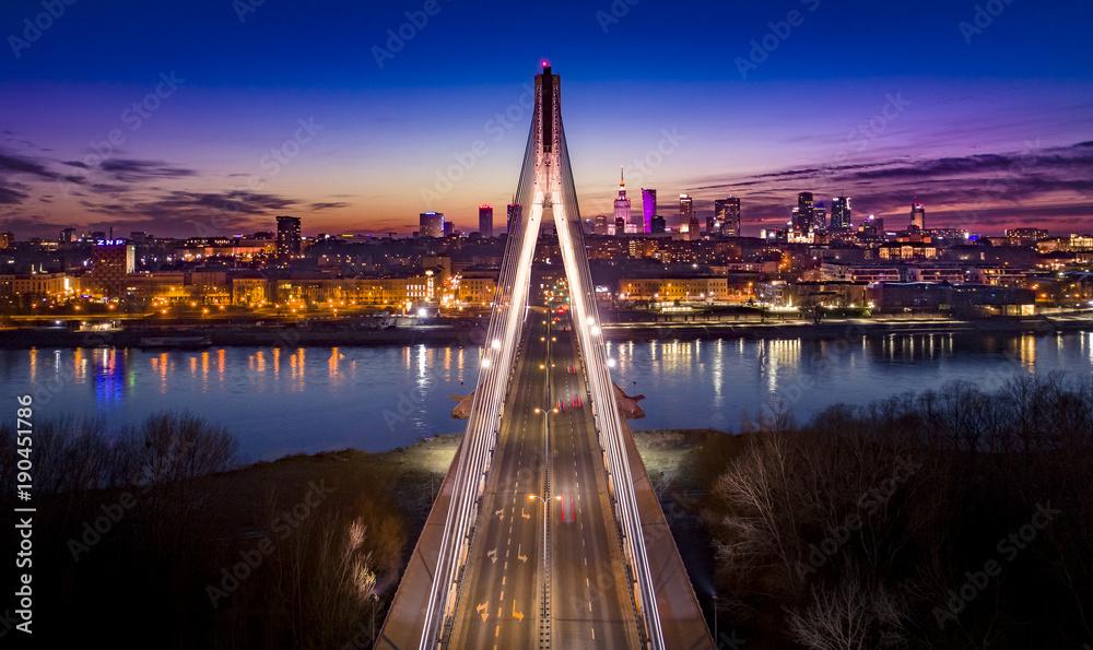 Fototapety, obrazy: Warszawa Most Świętokrzyski