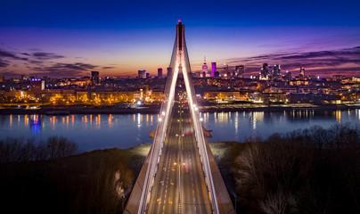 Panel Szklany PodświetlaneWarszawa Most Świętokrzyski