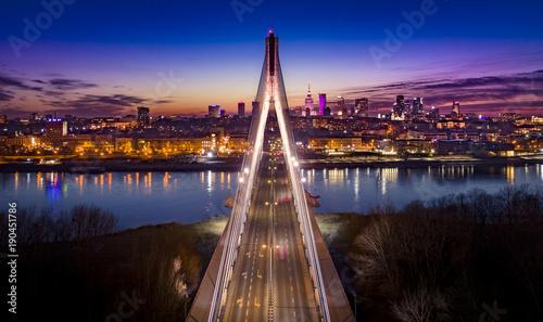 Obraz Warszawa Most Świętokrzyski - fototapety do salonu