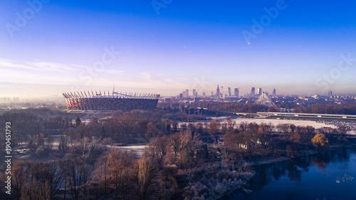 Obraz na PCV (fotoboard) Smog nad Warszawą