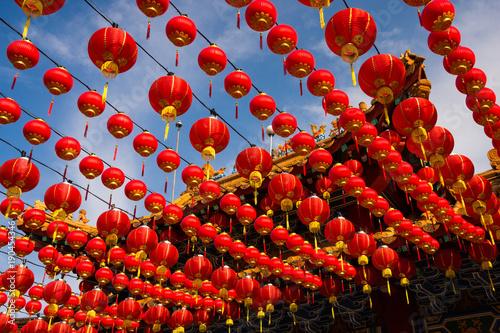 Red lanterns at Thean Hou Temple, Kuala Lumpur Malaysia Poster