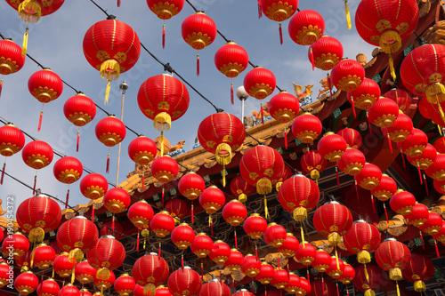 Photo  Red lanterns at Thean Hou Temple, Kuala Lumpur Malaysia