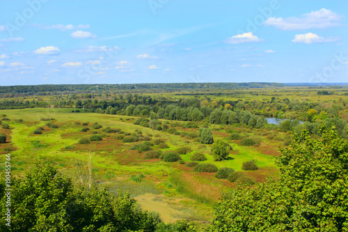 Tuinposter Pool wild landscape from a bird's-eye view