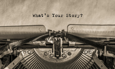 What is your story? typed o...