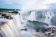Iguazu Falls (Iguacu Falls) on the border of Argentina and Brazil.